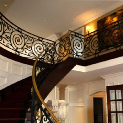 Customized Wrought Iron Spiral Stair Railing