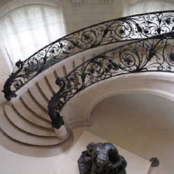 Luxury Wrought Iron Spiral Stair Railing For Hotel